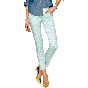 NEW J.Crew Cropped Matchstick Spearmint Jeans 27